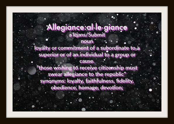 Allegiance and The Narrow Path