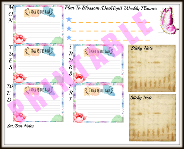 DeskTop3 Weekly Planner. PTB thumbn
